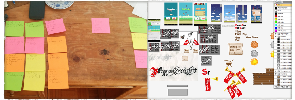 Left: My Kanban-board; Right: The designer's Kanban-board